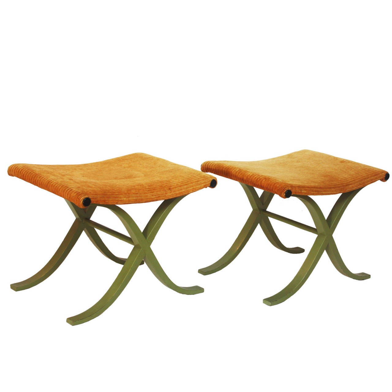 Pair of X-Form Stools by Plycraft, Inc. 1