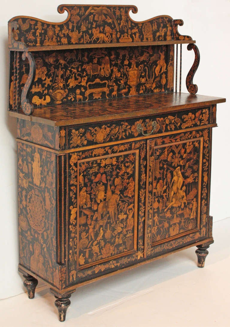 english regency japanned chiffonier at 1stdibs. Black Bedroom Furniture Sets. Home Design Ideas