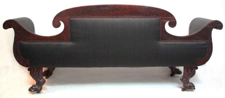 Flame Mahogany Sofa with Original Horsehair, American Classical 4