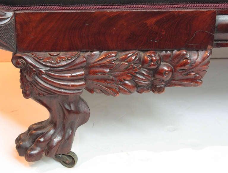 Flame Mahogany Sofa with Original Horsehair, American Classical 6