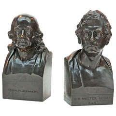 John Flaxman Bronze Portrait Bust by Samuel Parker after Samuel Joseph
