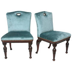 Pair of George II Style Hall Chairs by New York Galleries