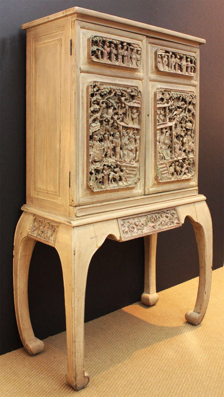 Bar / Liquor Cabinet with Antique Chinese Doors at 15stdibs