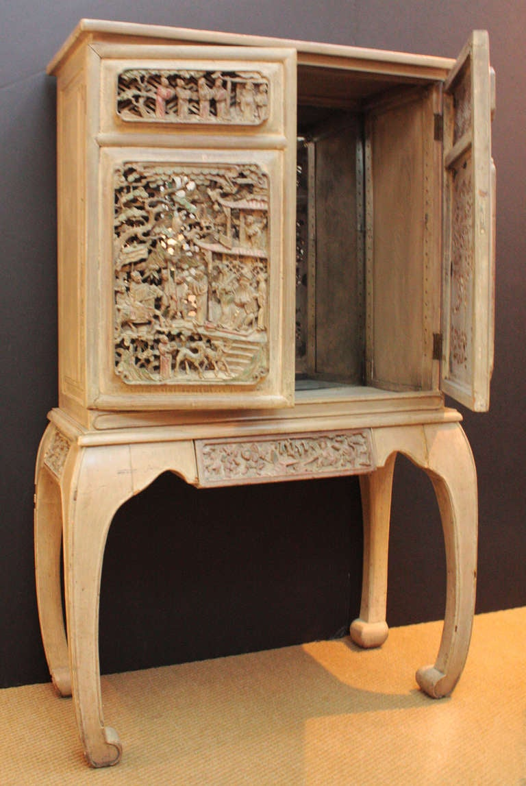 Bar Liquor Cabinet With Antique Chinese Doors At 1stdibs