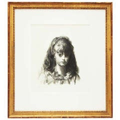"""""""Anne"""" Framed Lithograph by George Bellows, Signed"""