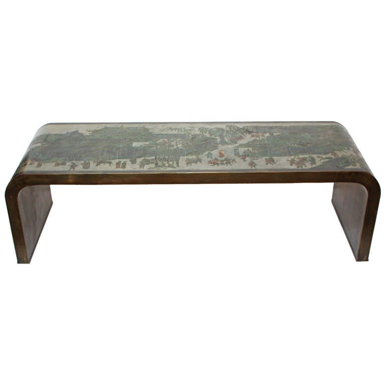 Autumn Festival Waterfall Coffee Table By Philip And Kelvin Laverne At 1stdibs