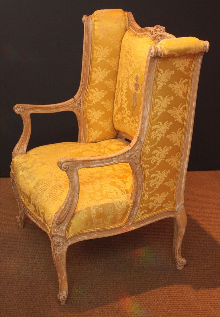louis xv style fauteuil at 1stdibs. Black Bedroom Furniture Sets. Home Design Ideas