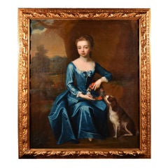 Portrait of Young Lady with Dog