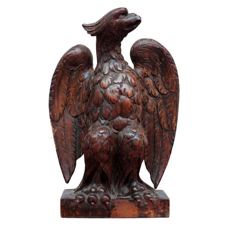 Carved Wood Eagle 1