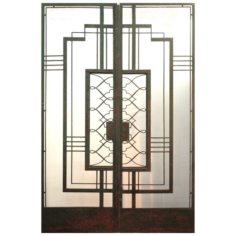 art deco iron doors attributed to raymond subes at 1stdibs