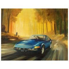 Ferrari 365 GTB/4 Daytona by Dion Pears (British 1929-1985)
