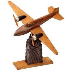 Anthoine Art Bois Wooden Seaplane Model