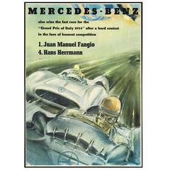 Original 'Mercedes-Benz' Poster by Hans Liska