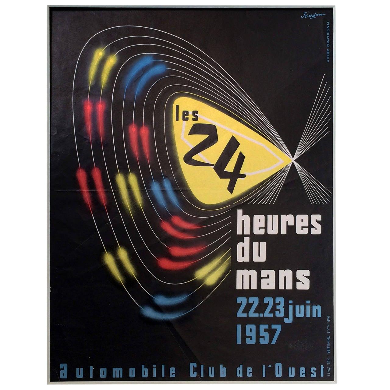 24 heures du mans 1957 for sale at 1stdibs. Black Bedroom Furniture Sets. Home Design Ideas