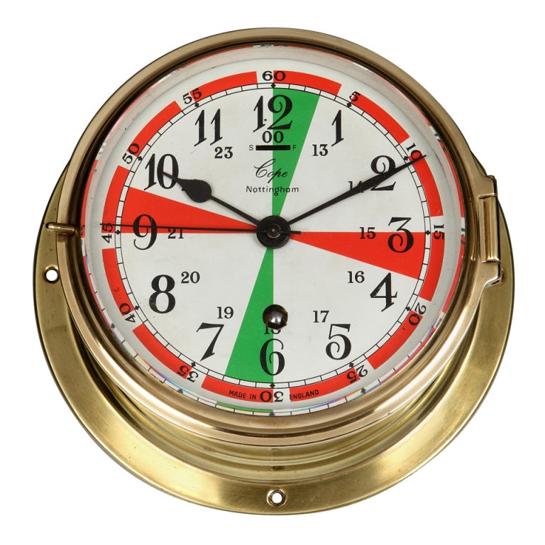 Ship S Bulkhead Clock From Wwii C 1940s For Sale At 1stdibs