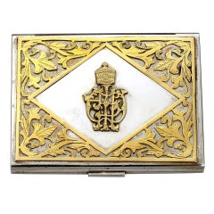 Platinum and Gold cigarette case presented by Haile Salassie, c. 1960s