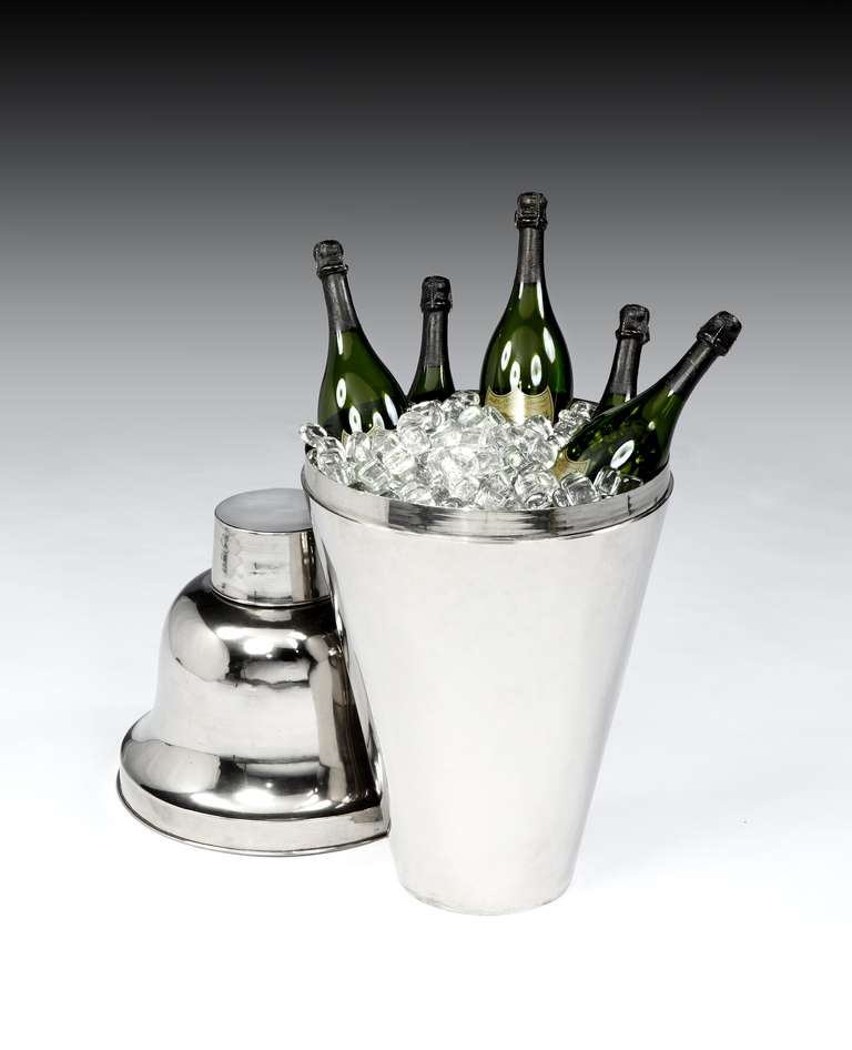 Art Deco Giant 'Cocktail Shaker' Champagne Cooler