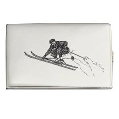 'Ski jumper' Cigarette Case ca. 1930