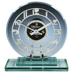 Art Deco 'Skeleton' clock by ATO
