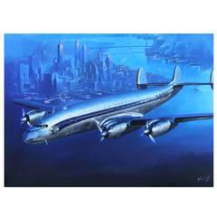 Lucio Perinotto 'Air France Constellation' Painting
