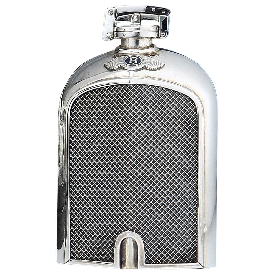 Sterling Silver Bentley Motors Hipflask At 1stdibs