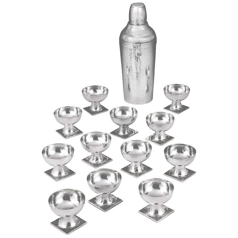 Wilhelm Weinranck Sterling Silver Vodka Set