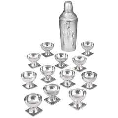 Wilhelm Weinranck Sterling Silver Vodka Set