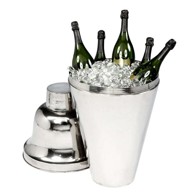 Giant 'Cocktail Shaker' Champagne Cooler