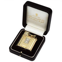 Very Rare, 18ct Gold 'Unique 'A' Sports' Pocket Lighter