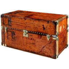 All-Leather Wardrobe Trunk by Louis Vuitton