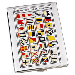 Yachting Code of Signals Semaphore Cigarette Case