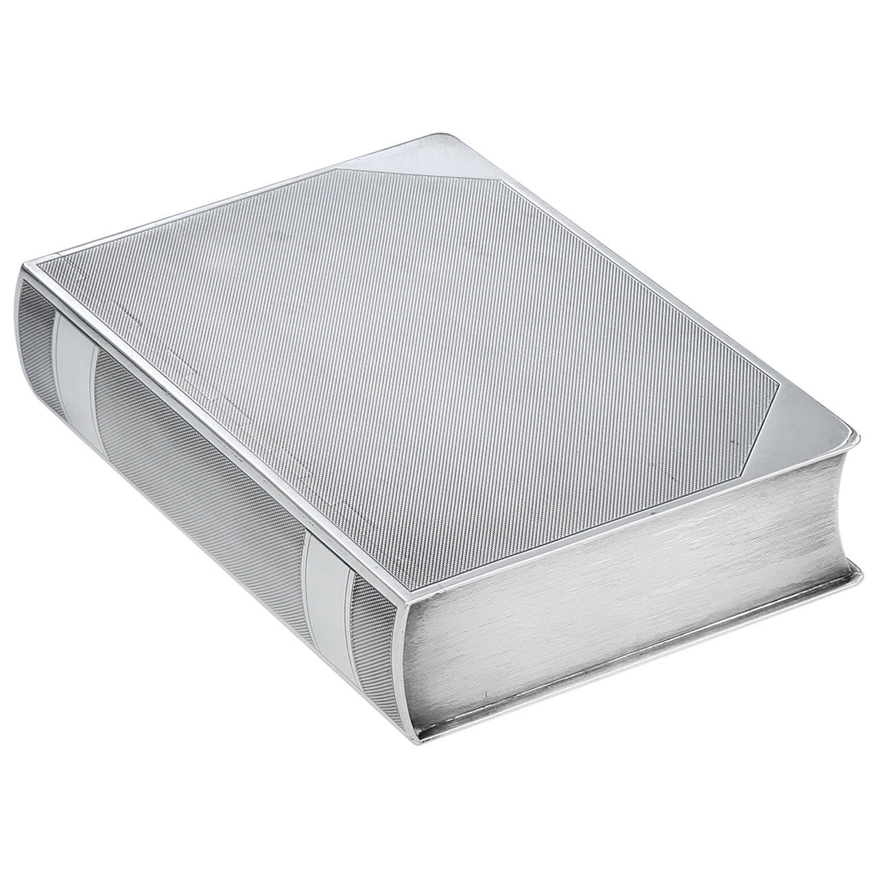 Sterling Silver Novelty 'Book' Cigar Box