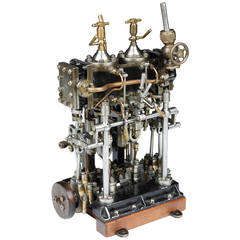 Working Scale Model of a Steam Engine by Sulzer Frères, Switzerland