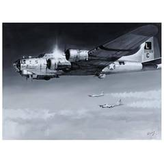 Boeing B-17 'Flying Fortress,' Original Painting
