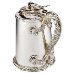 Sterling silver 'Dragon' Flagon
