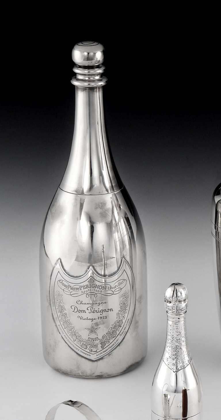 39 dom perignon 39 bottle cocktail shaker at 1stdibs. Black Bedroom Furniture Sets. Home Design Ideas