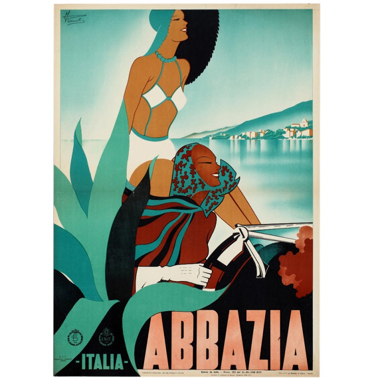 Original poster for Abbazia by M. Romoli, 1938.