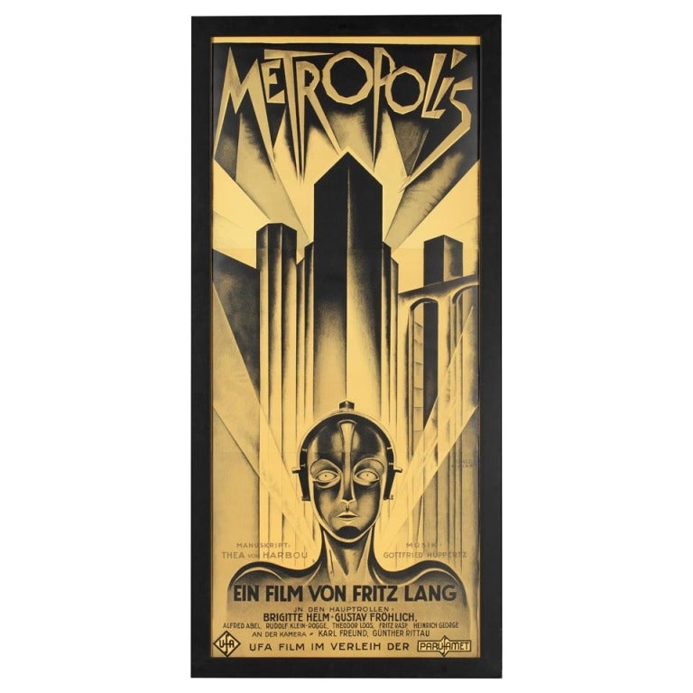Rare, Second Edition Poster for Fritz Lang's Film 'Metropolis' 1