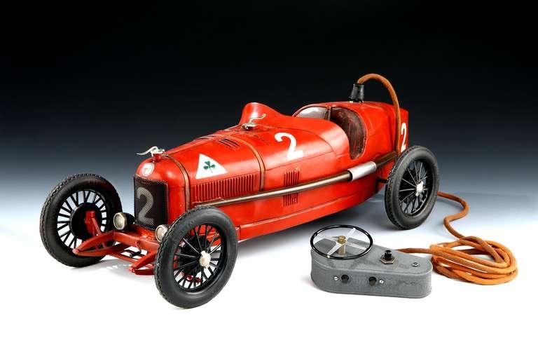 Unique Motorised Alfa Romeo P2 Tinplate Toy At 1stdibs