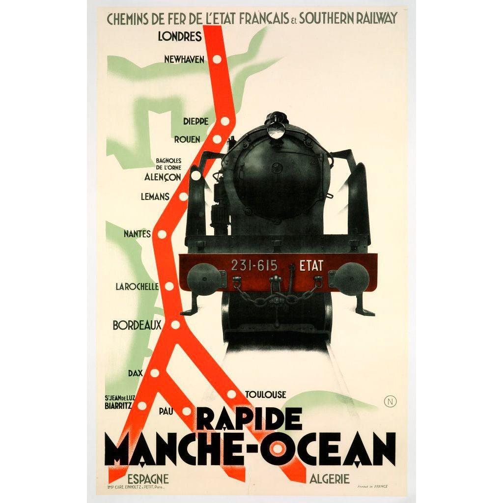 Original 'Rapide Manche-Ocean' poster, c. 1930