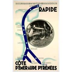 Original 'Rapide, Pyrenees', c. 1930