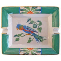 Hermès Ashtray With Parrot Decoration