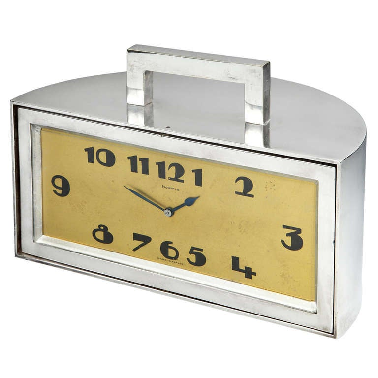 Art Deco Demilune Clock or Trinket Box at 1stdibs
