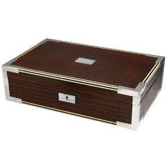 Large Faux-Crocodile Humidor