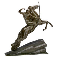 Modernist Archer Bronze by Lemo