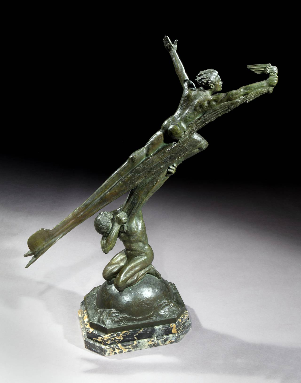 Frederic C. Focht (Born 1879, died circa 1937)  Frederic Focht was born in Paris in 1879 and studied under the celebrated sculptor Falguiere. His remarkable talent was recognized early in his career, exhibiting at the Salon des ArtistesFrançais