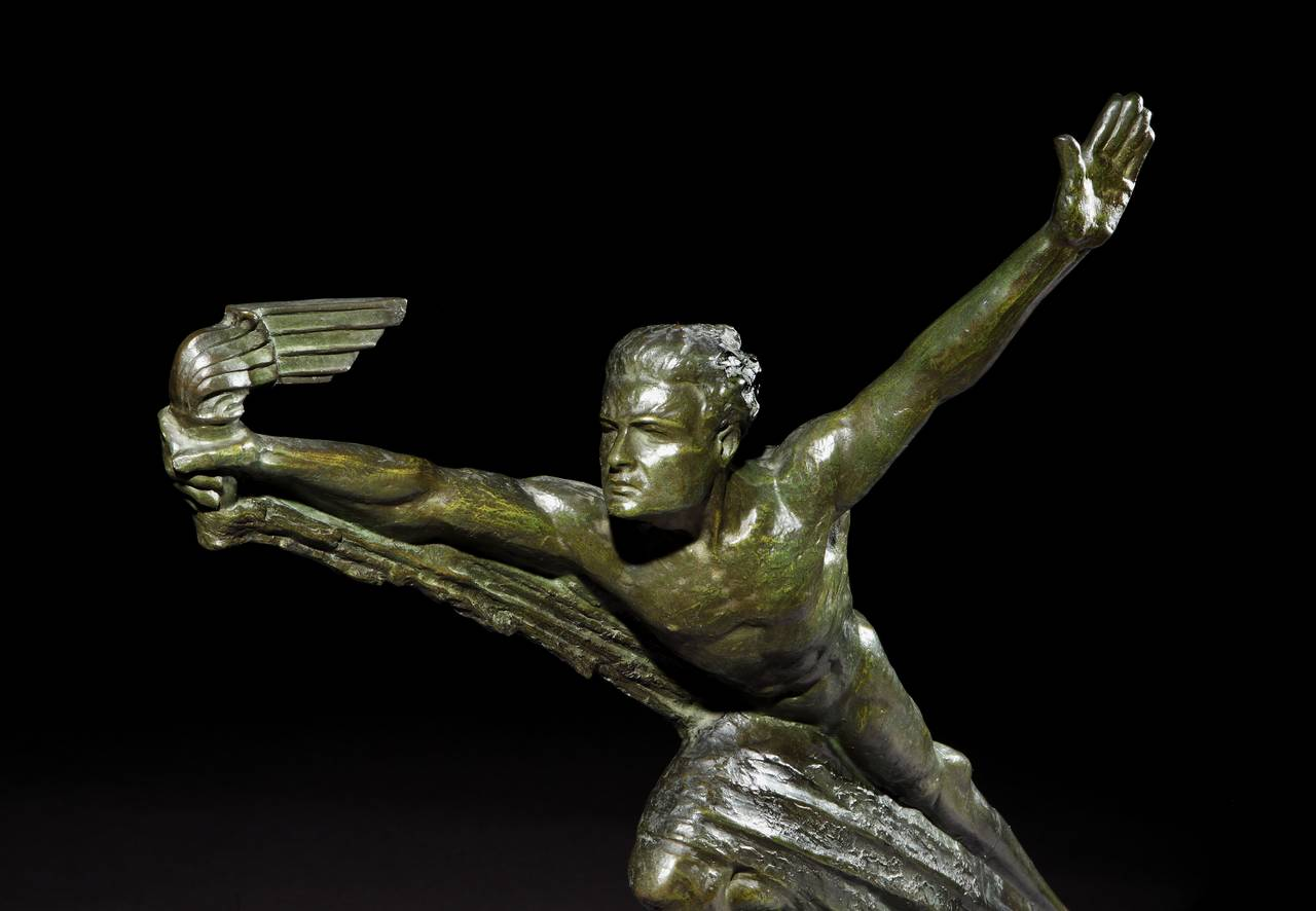 French Monumental Art Deco sculpture by Focht For Sale