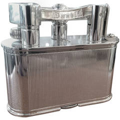 Chrome 'Bijou' table lighter by Alfred Dunhill