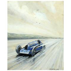 'Napier Campbell Bluebird, 1927' by Roy Nockolds