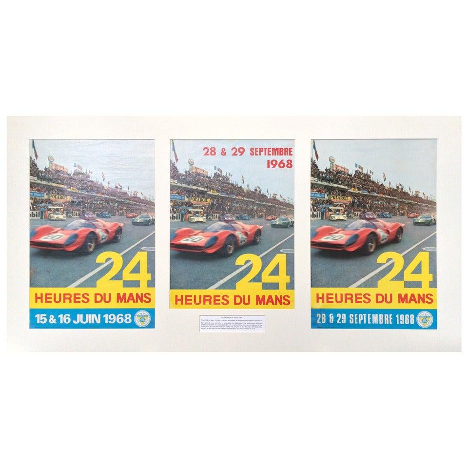 Vintage 1968 Le Mans 24 Hour Race Motor Racing  Poster A3 Print